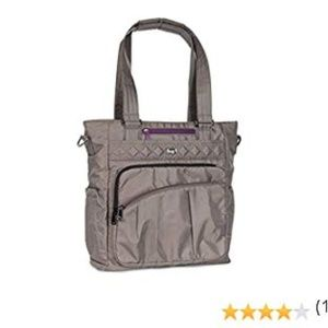 Lug Ace Tote  - Walnut with Purple Accent